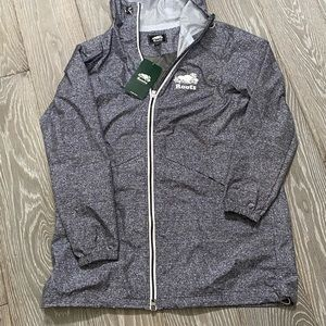 NWT Roots Unisex Gray Raincoat - Limited Edition